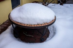 Outdoor Fire Pit Can Be Damaged If Has No Cover